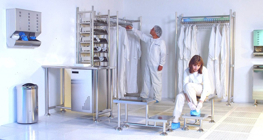 Cleanroom Gowning Room Zinter Handling Inc