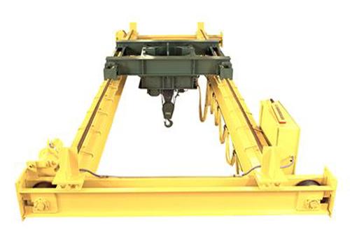 Double girder cranes zinter handling inc for Motorized rotating crane hook